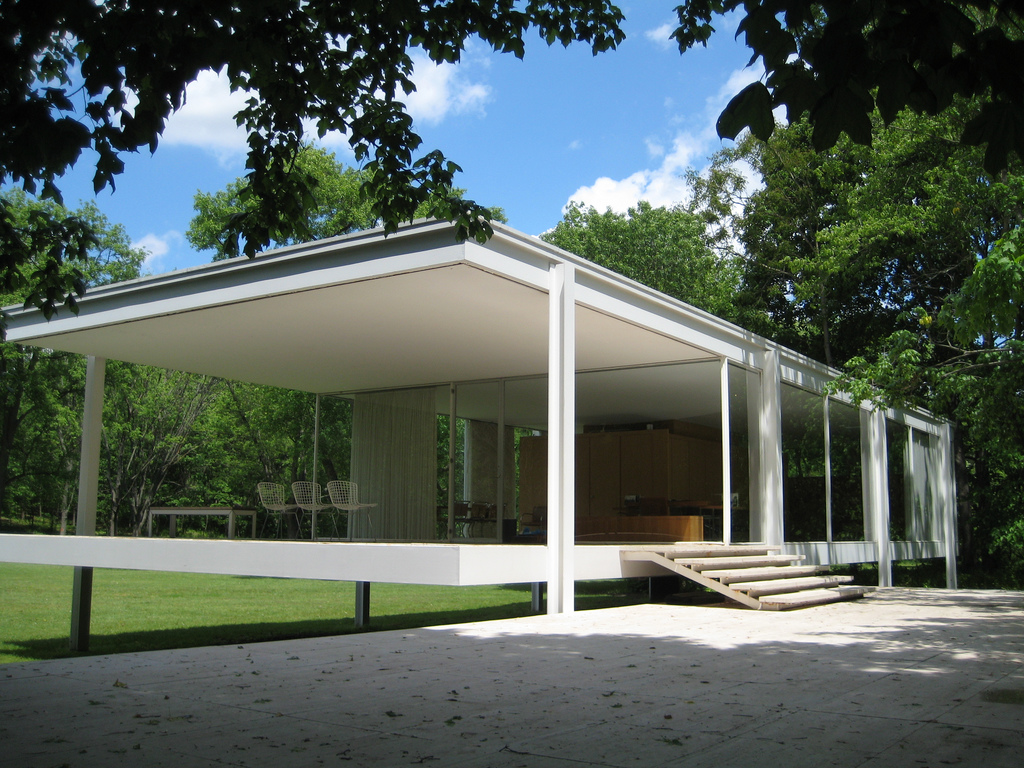 ludwig mies van der rohe farnsworth house gunner architect. Black Bedroom Furniture Sets. Home Design Ideas